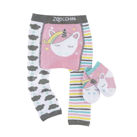 Zoocchini Legging & Sock Set - Allie the Alicorn