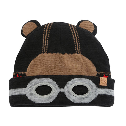 Flapjacks Knitted Toque - Black Bear