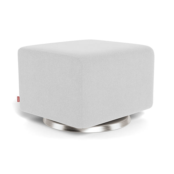 Monte Como Ottoman with Stainless Steel Swivel Base