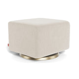 Monte Como Ottoman with Gold Swivel Base