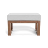 Monte Joya Ottoman with Walnut Wood Base