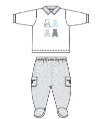 Absorba Collection Grey 2Pc Pant Set