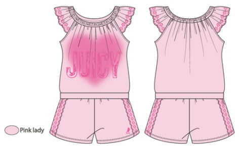 Juicy Couture Pink Lady Romper - JCTXG0451