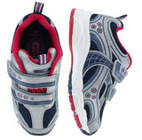 pediped Flex Mercury Navy/Red/ Silver Sneaker