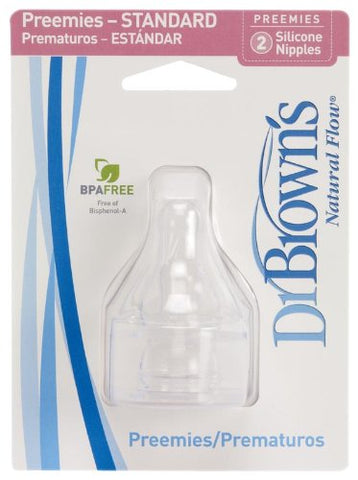 Dr. Brown's Standard Silicone Nipples - 2 pack