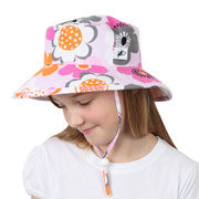 Puffin Gear S15 Cotton Prints Sunbaby Hat - Garden Mosaic