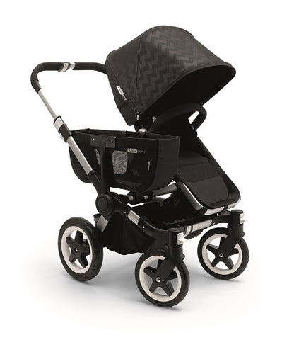 Bugaboo Shiny Chevron Intense Black Tailored Fabric Set