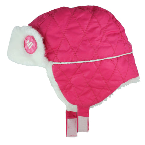 Calikids Girls Nylon Shell & Faux Fur Hat W1425