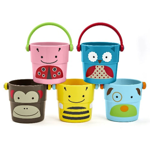 Skiphop Zoo Bath Stack & Pour Buckets