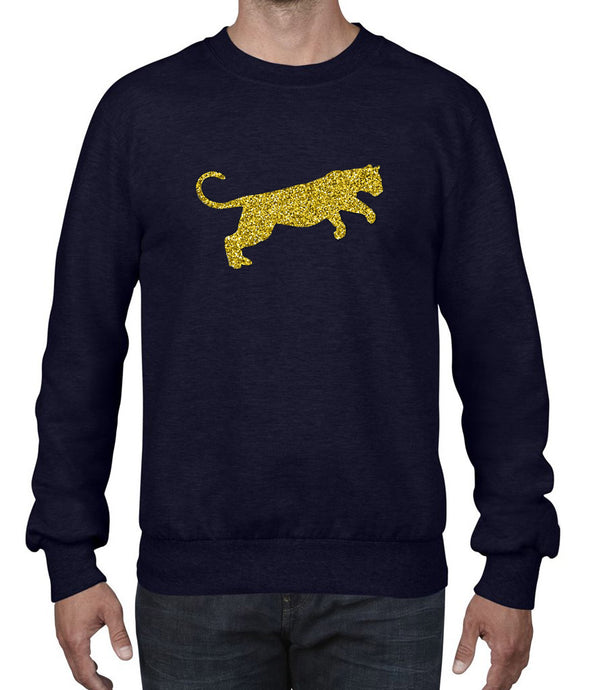 Panther Silhouette Glitter Long Sleeve or Tshirt in Navy