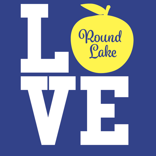 Round Lake LOVE Apple Short Sleeve T-Shirt