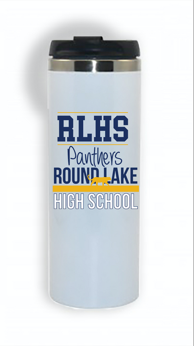Panther Pride White Travel Tumbler