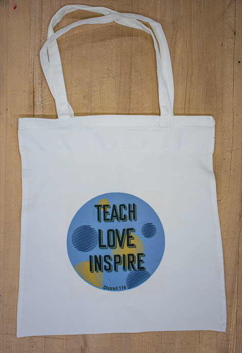 Round Lake Teacher Tote Bag