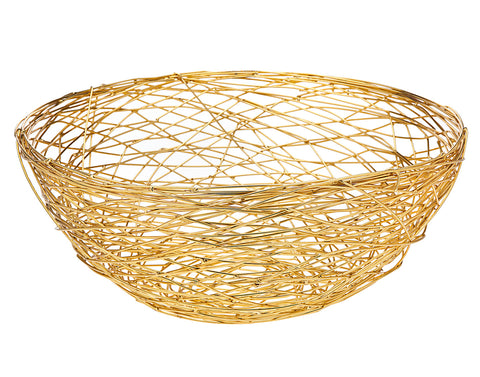 Nest Bowl Gold Finish - Large