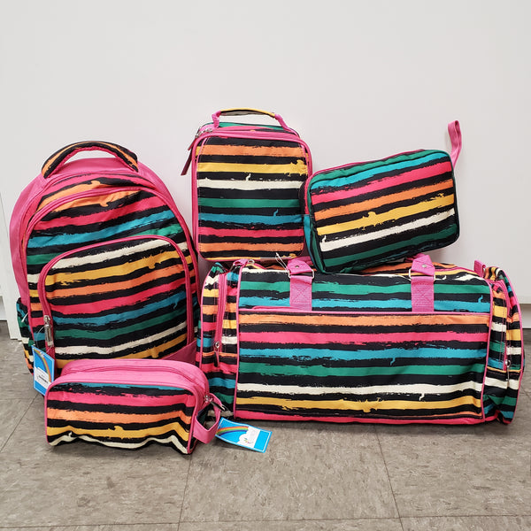 Rainbow striped travel collection
