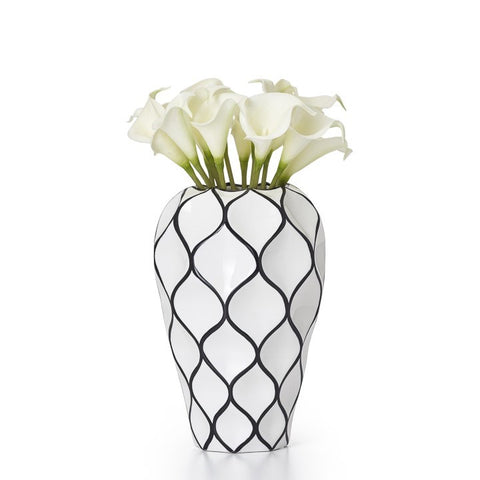 Lattice Outline Ceramic Vase