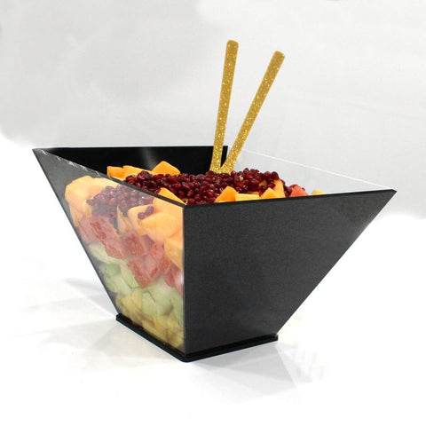 Trapezoid Lucite Salad Bowl