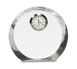 Clear Crystal Round Clock