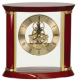 Executive Gold & Rosewood Piano Finish Clock