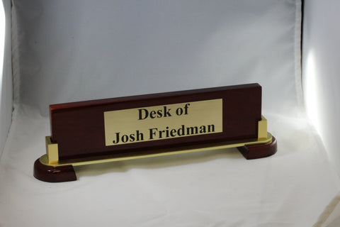Piano Finish desk name plate