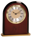 Mahogany Finish Arch Clock  6 1/2""
