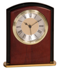 Mahogony Finish Square Arch Clock- 6 1/2""