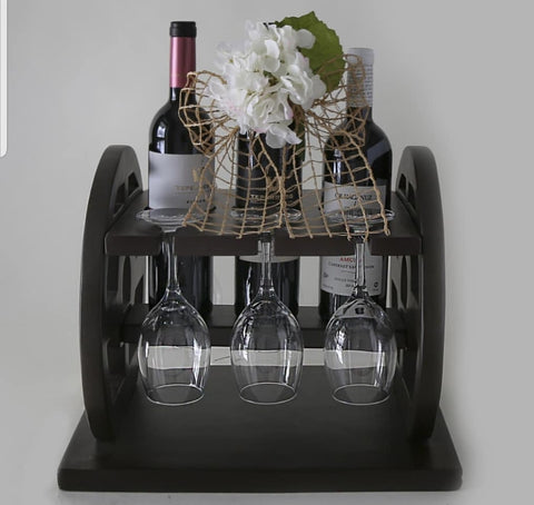 Wine wooden holder