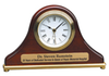 Rosewood Piano Finish Mantel Desk Clock