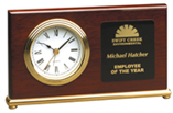 Rosewood Piano Finish Horizontal Desk Clock