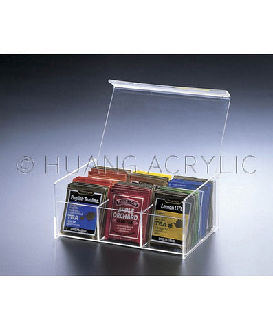 Acrylic 6-COMPARTMENT TEA BAG BOX
