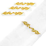Pomegranate Leaf Napkin Wraps (4) Silver Or Gold