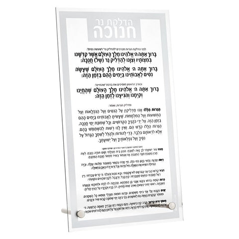 Basic Chanukah Brachot Plaque