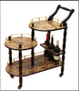 3-Tier Serving Tea Cart-Gold Marble Finish