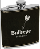 Leatherette Stainless Steel Flask - 6 oz.