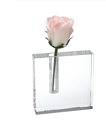 "PLAIN BLOCK 6X6"" BUD VASE"
