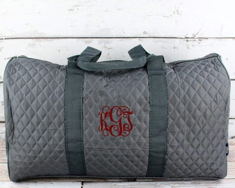 Quilted Duffel and Garment bag