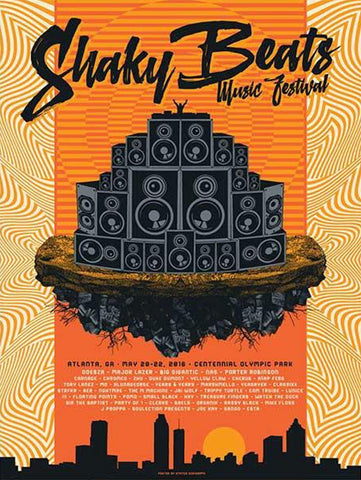 2016 Shaky Beats Official Commemorative Poster