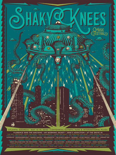 2016 Shaky Knees Official Commemorative Poster