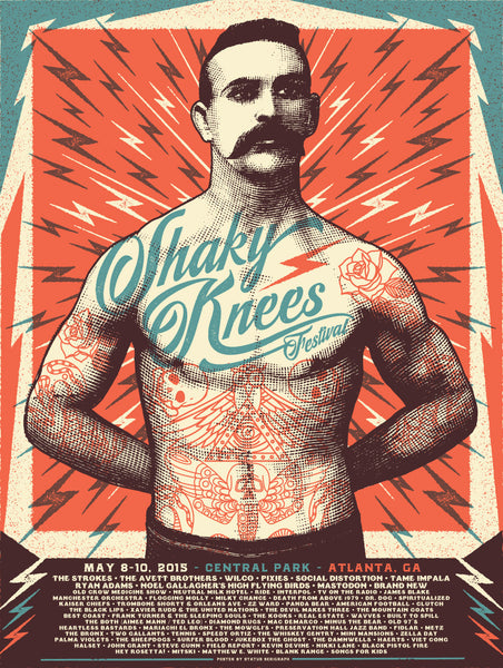 2015 Shaky Knees Official Commemorative Poster