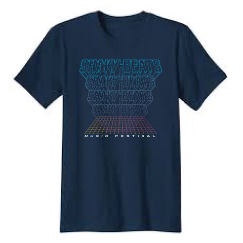 Shaky Beats Grid Lineup Tee - Only Small Left!