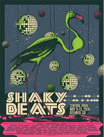 2018 Shaky Beats Official Commemorative Posters
