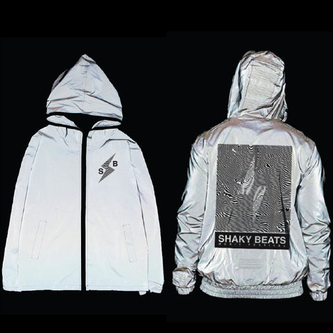 Shaky Beats Reflective Bolt Jacket
