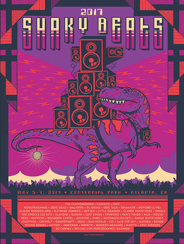 2017 Shaky Beats Official Commemorative Poster