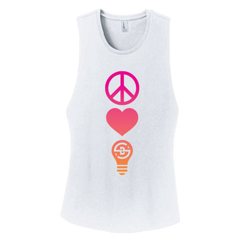 2017 Shaky Beats Women's Peace, Love, Beats Lineup Tank