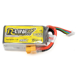 TATTU 1300mah R-Line 4s 95c Lipo Battery