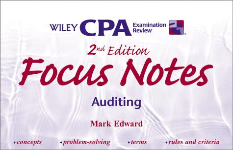 Wiley CPA Examination Review Focus Notes, Auditing, 2nd Edition