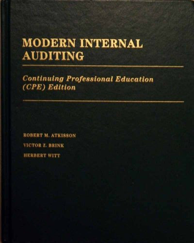 Modern Internal Auditing (Cpe Edition)