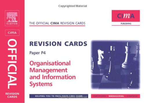 CIMA Revision Cards Organisational Management and Information Systems (CIMA  Managerial Level 2008)