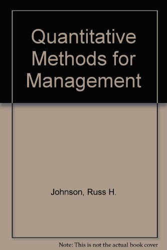 Quantitative Methods for Management