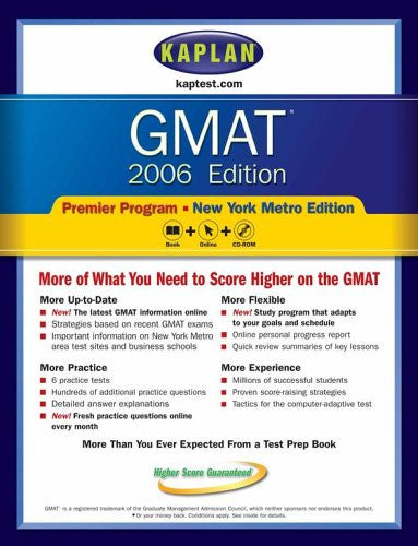 GMAT 2006, Premier Program: New York Metro Edition (Kaplan Test Prep and Admissions)